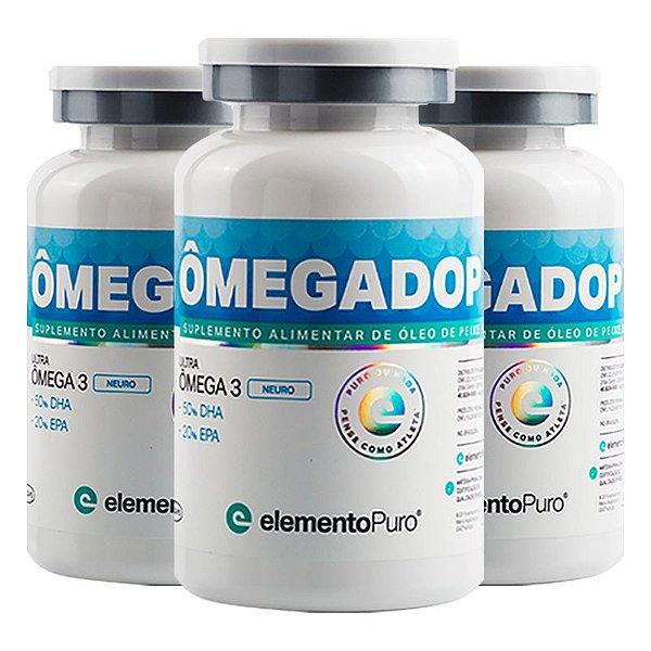 Kit 3 Ômegadop Omega 3 Neuro Elemento Puro 60 Cápsulas