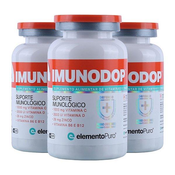 Kit 3 Imunodop Multivitaminico Elemento Puro 120 Cápsulas