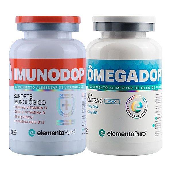 Kit Imunodop 120 Cápsulas + Omegadop Neuro 60 cápsulas Elemento Puro