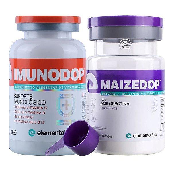 Kit Imunodop 120 Cápsulas + Maizedop 1200g Elemento Puro Natural