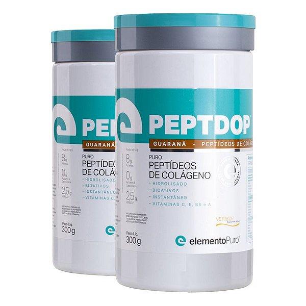 Kit 2 Peptdop Colágeno Hidrolisado Elemento Puro 300g