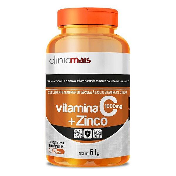 Vitamina C + Zinco Clinicmais 850mg 60 Cápsulas
