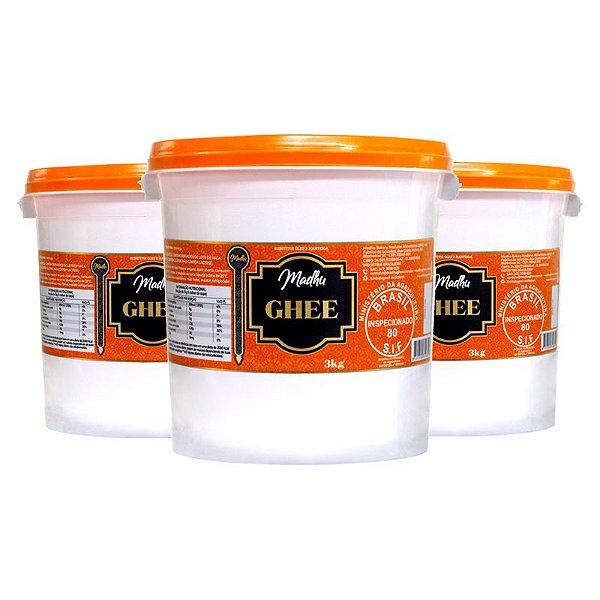 Kit 3 Manteiga Ghee Madhu Tradicional 3kg