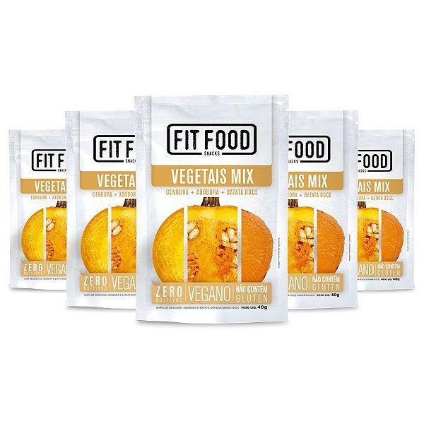 Kit 5 Mix Vegetais Chips Fit Food 40g