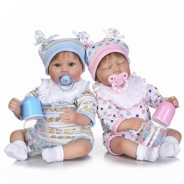 Bebês Reborn Gêmeos Patrick e Patricia