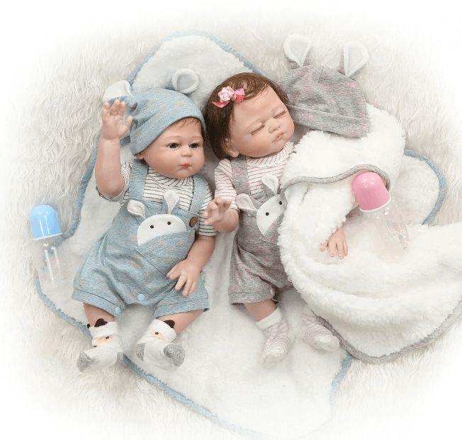 Bebês Reborn Gêmeos Charles e Charlene  Hiper Realista