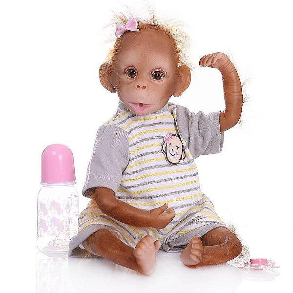 Bebê Cheeta Macaco Reborn