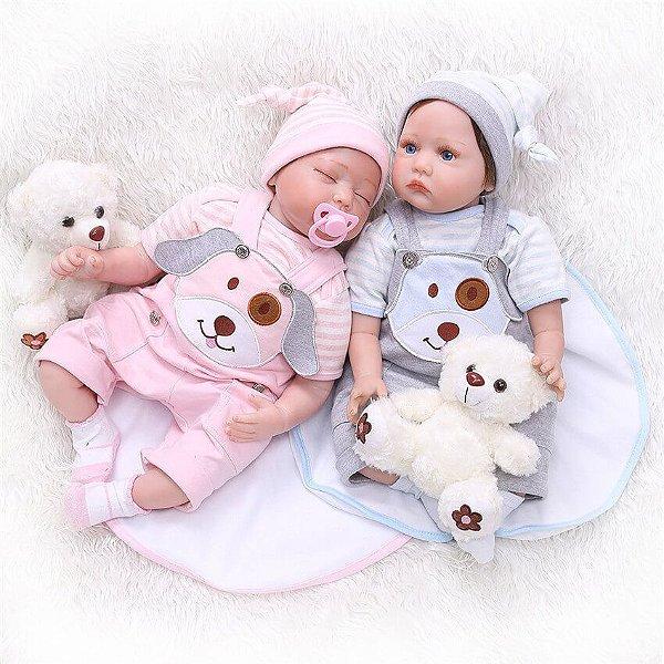 Bebês Reborn Gêmeos Suelen e Rafael