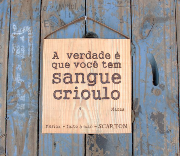 QUADRO SANGUE CRIOULO (COLEÇÃO MÚSICA)