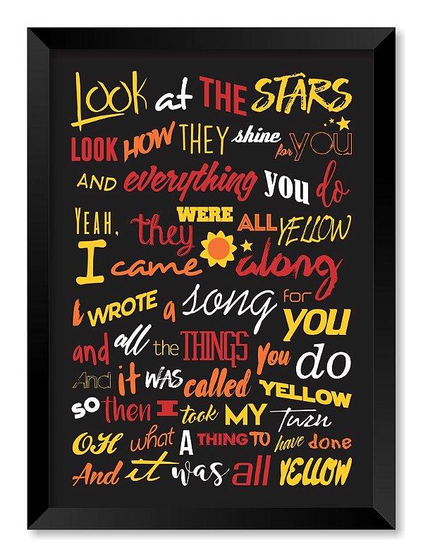 Quadro Coldplay
