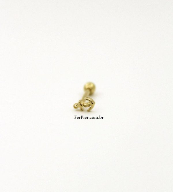 Piercing para Tragus/Cartilagem - Ouro Amarelo 18K - Ancora