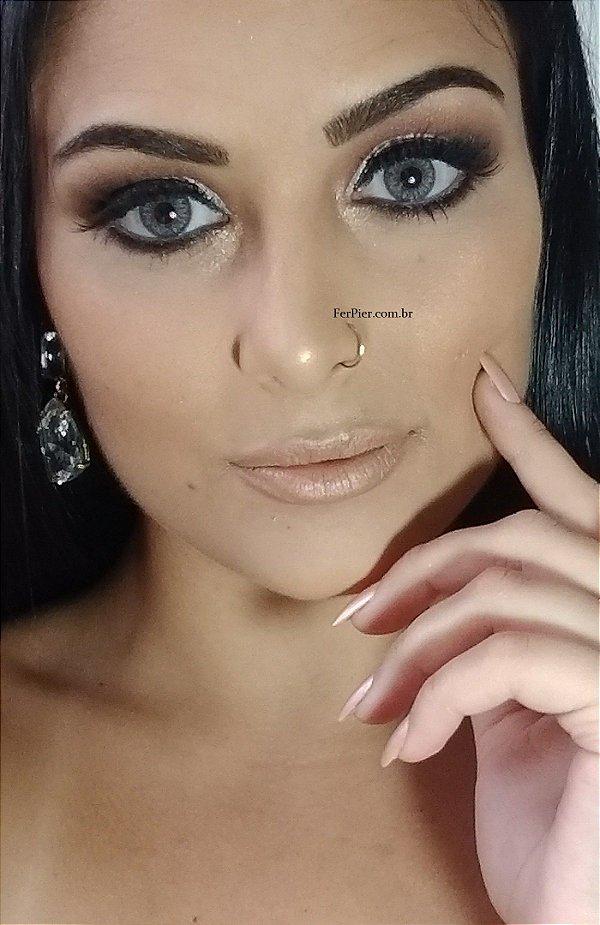 Argola para nariz com fechamento  - 0,75mm de espessura - Piercing em ouro Amarelo 18k