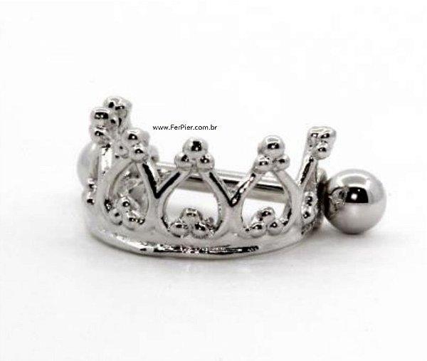 Piercing para Hélix/Orelha - Prata - Coroa