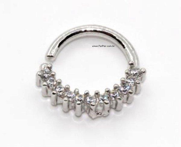 Piercing para Cartilagem/Orelha/Septo/Tragus/Hélix em Prata 950 + flanela polidora
