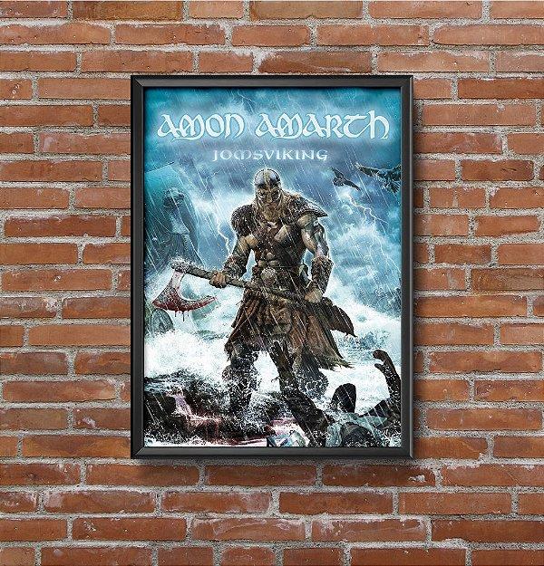 Quadro Placa Decorativo Banda Amon Amarth Azul