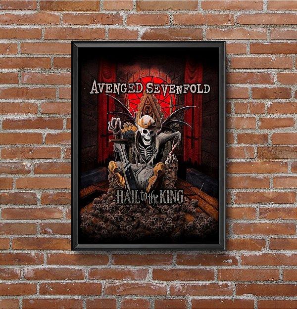 Quadro Placa Decorativo Banda Avenged Sevenfold Hail To The King Vermelho