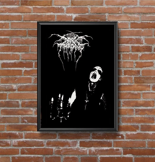 Quadro Placa Decorativo Banda Darkthrone Transilvanian Hunger Preto & Branco
