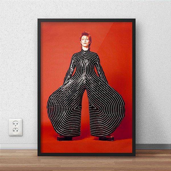 Quadro Placa Decorativo David Bowie Tokyo Pop Vermelho & Preto