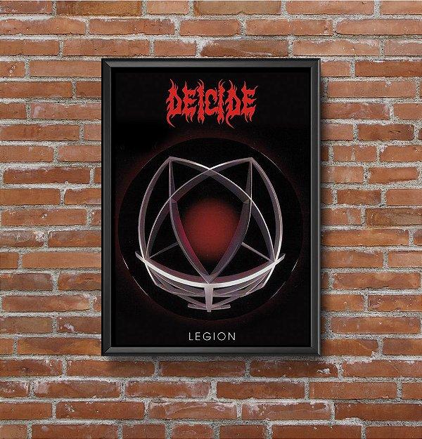 Quadro Placa Decorativo Banda Deicide Legion Preto & Vermelho