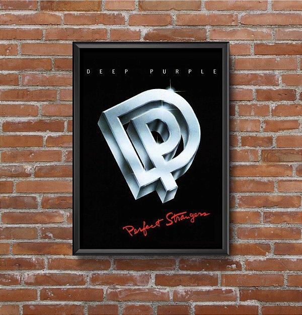 Quadro Placa Decorativo Banda Deep Purple Perfect Strangers Preto & Prata