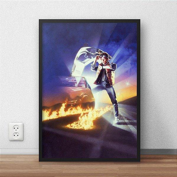 Quadro Placa Decorativo Filme De Volta Para O Futuro Marty McFly Azul & Vermelho