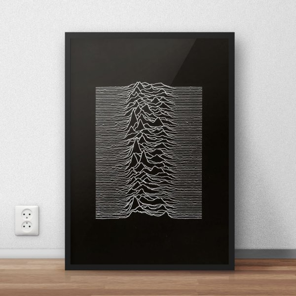 Quadro Placa Decorativo Banda Joy Division Unknown Pleasures Preto & Branco