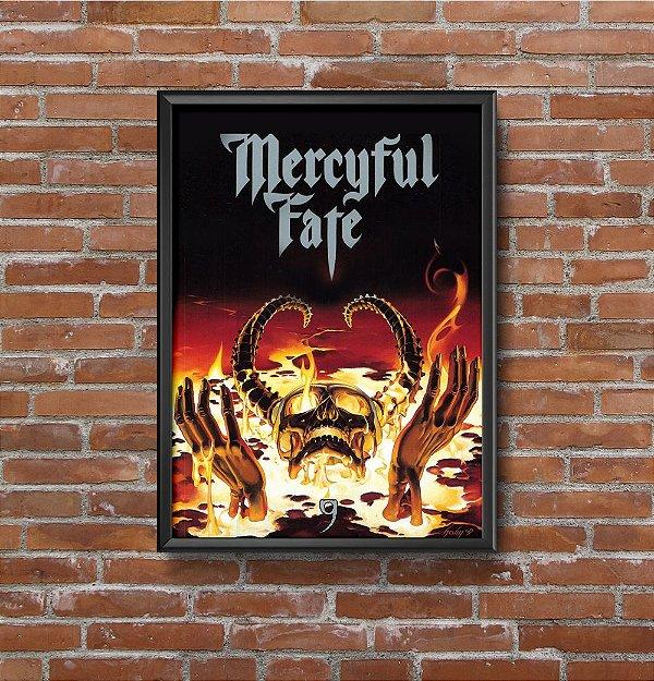 Quadro Placa Decorativo Banda Mercyful Fate 9 Preto & Vermelho