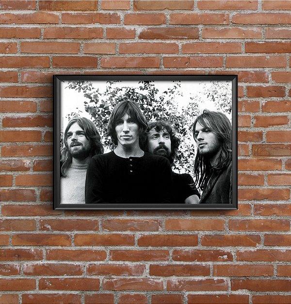 Quadro Placa Decorativo Banda Pink Floyd Preto & Branco