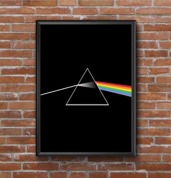Quadro Placa Decorativo Banda Pink Floyd The Dark Side Of The Moon Preto & Branco