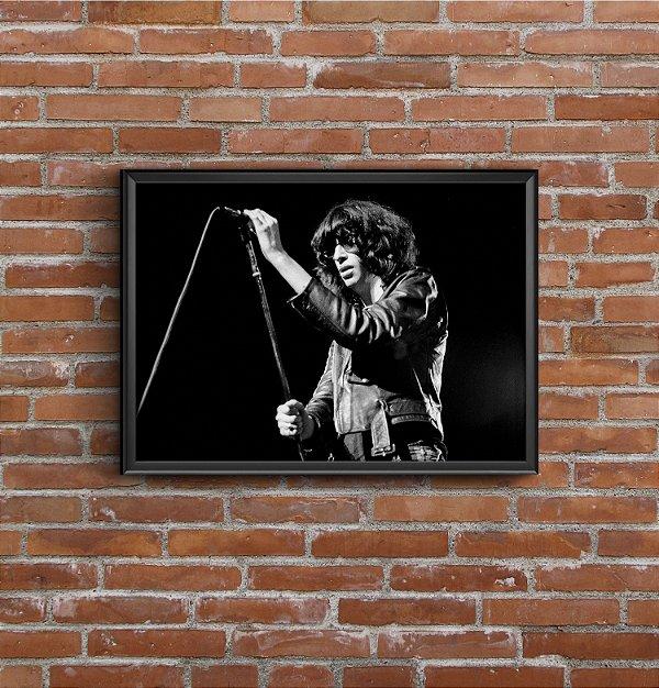 Quadro Placa Decorativo Banda Ramones Preto & Branco