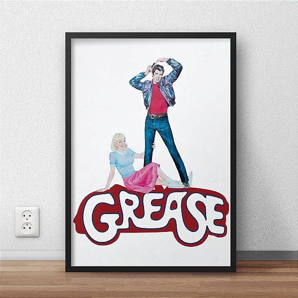 Quadro Placa Decorativo Filme Grease Vermelho &Preto