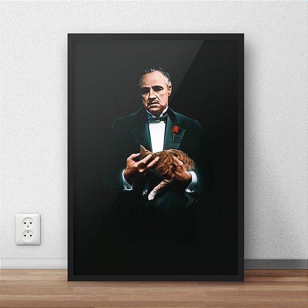 Quadro Placa Decorativo Filme O Poderoso Chefão Preto & Branco