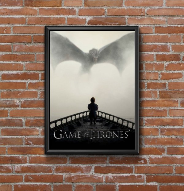 Quadro Placa Decorativo Série Game Of Thrones Preto & Branco