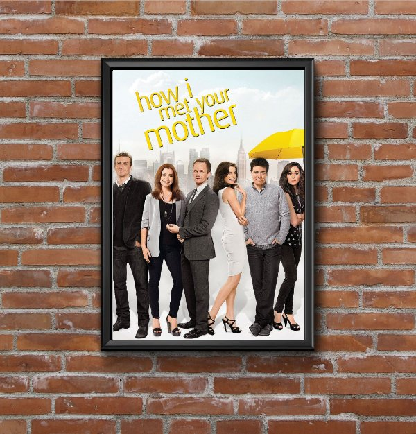 Quadro Placa Decorativo Série How Met Your Mother Branco & Preto