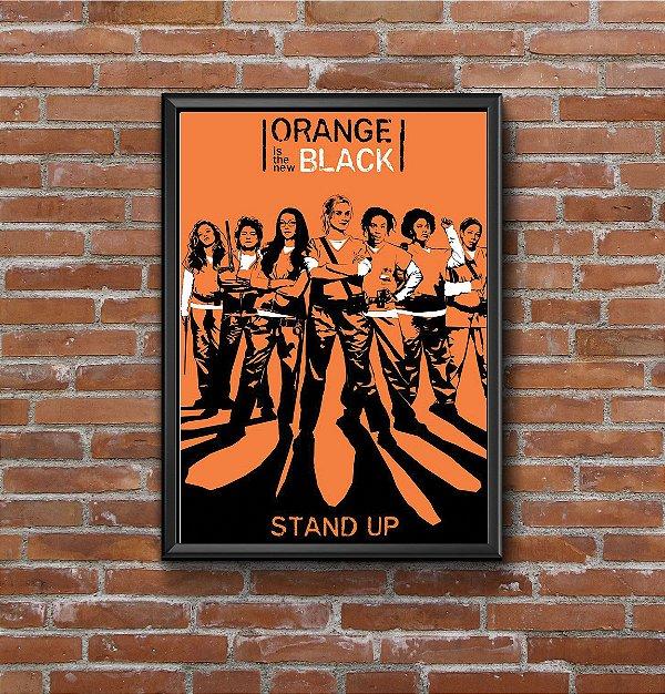 Quadro Placa Decorativo Série Orange Is New Black Laranja & Preto