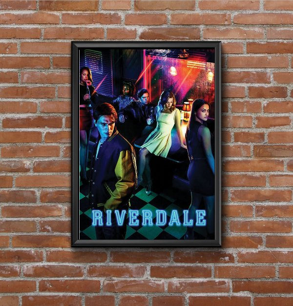 Quadro Placa Decorativo Série Riverdale Vermelho & Azul
