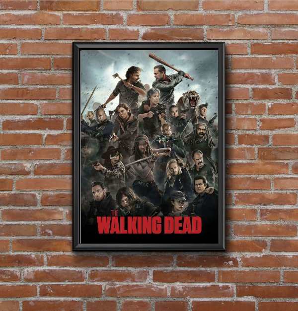 Quadro Placa Decorativo Série The Walking Dead Preto & Verde