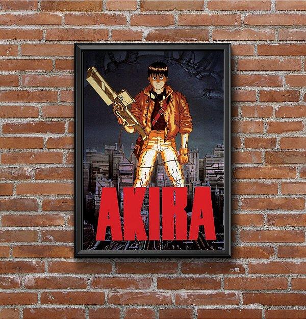 Quadro Placa Decorativo Filme Animação Akira Preto & Vermelho