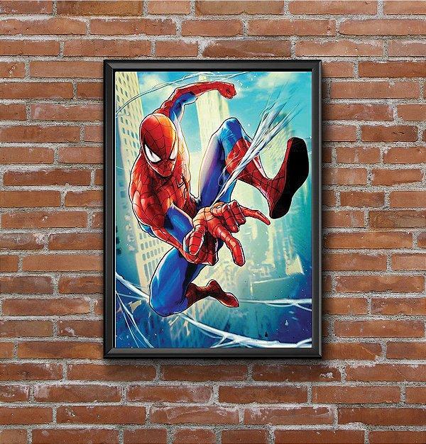 Quadro Placa Decorativo Super-Herói Homem-Aranha Marvel Vermelho