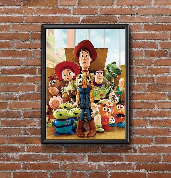 Quadro Placa Decorativo Filme Toy Story Branco & Verde