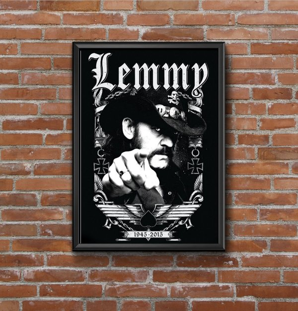 Quadro Placa Decorativo Lemmy Kilmister Motorhead Preto & Branco
