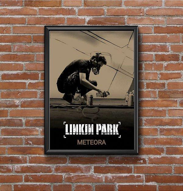 Quadro Placa Decorativo Banda Linkin Park Meteora Preto & Bege
