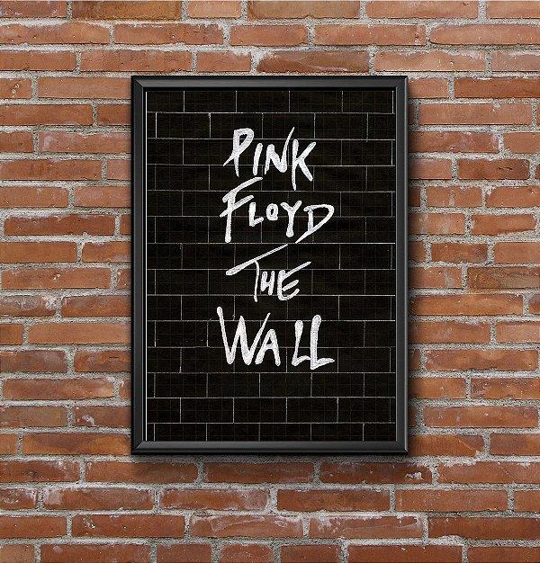 Quadro Placa Decorativo Banda Pink Floyd The Wall Preto & Branco