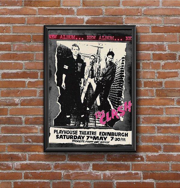 Quadro Placa Decorativo Banda The Clash Preto & Branco