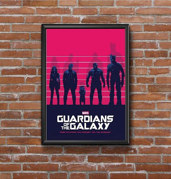Quadro Placa Decorativo Filme Guardiões Da Galáxia Vermelho & Azul