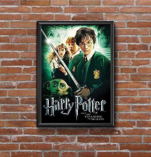 Quadro Placa Decorativo Filme Harry Potter E A Câmara Secreta Preto & Verde