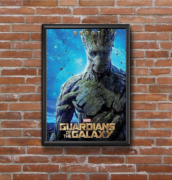 Quadro Placa Decorativo Filme Guardiões Da Galáxia Groot Azul & Verde