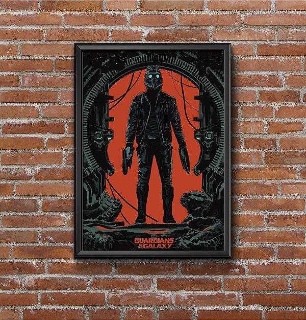 Quadro Placa Decorativo Filme Guardiões Da Galáxia Preto & Vermelho
