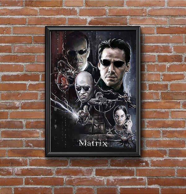 Quadro Placa Decorativo Filme The Matrix Preto & Bege