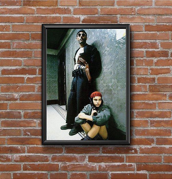 Quadro Placa Decorativo Filme Léon: O Profissional Preto & Branco